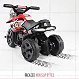 toyzz Kids Ride on Kids Motorcycle Motorcross Electric Scooter Motorbike 6V Battery Operated Toy Car Bike (RED)