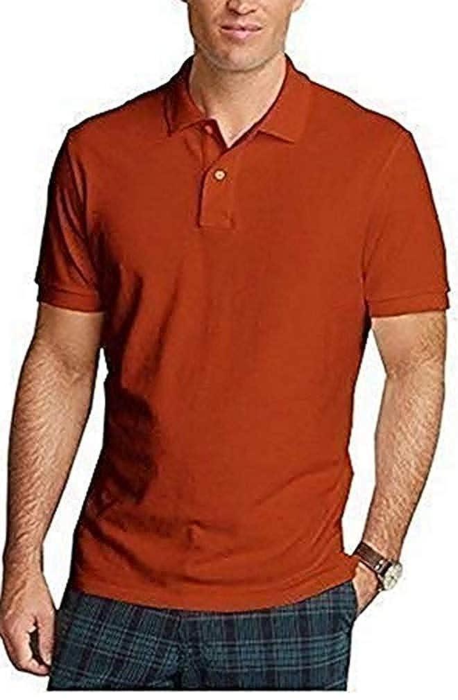 Camiseta polo para Hombre de Eddie Bauer - algodón, Naranja, 100 ...