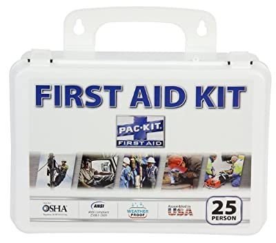 Pac-Kit by First Aid Only 6430 143 Piece #25 ANSI Plus Weatherproof Plastic Case First Aid Kit from Acme United