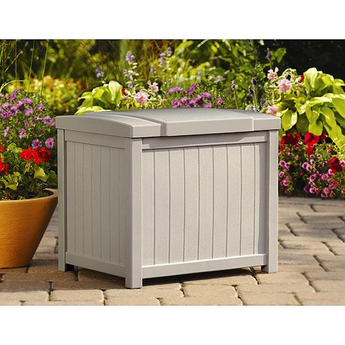 Cosmic Furniture Modern Style Light Taupe Small Storage Deck Box with Durable Long Lasting Resin Construction and Stay Dry Design for Patio and Garden Outdoor or Indoor Use by Cosmic Furniture