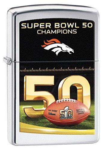 Broncos Nfl Denver Lighter Zippo (NFL Denver Broncos Super Bowl 50 Champions Pocket Lighter)