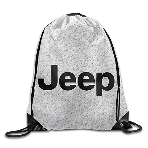 GUC Jeep Trucks Logo Emblem Durable Drawstring Backpack Outdoor Valise Bag