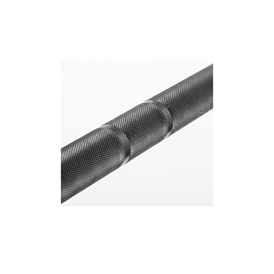 XMark Lumberjack 7' Olympic Bar, Chrome with Black Manganese Phosphate Shaft, 28 mm Grip, Powerlifting Bar, Olympic Barbell