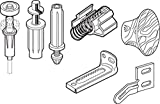Prime-Line N 7283 Bi-Fold Door Repair Kit, For 7/8 in. Wide Track, Used with 3/8 in. Outside Diameter Pivots & Guides