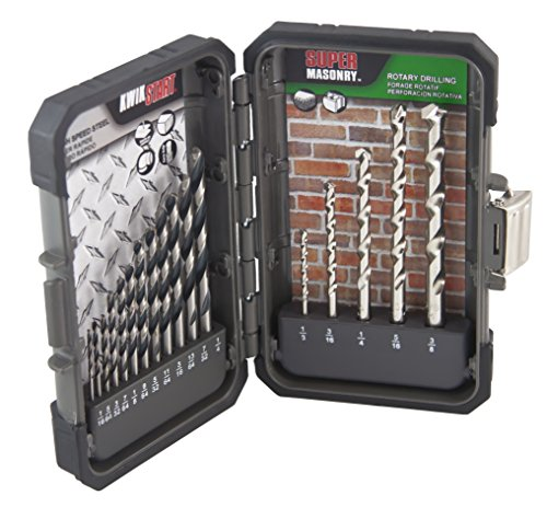 MIBRO 871060 High Speed Steel and Super Masonry Drill Bit Set, 17 Pieces