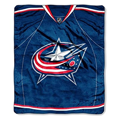 "NHL Jersey Plush Raschel Throw, 50"" x 60"""