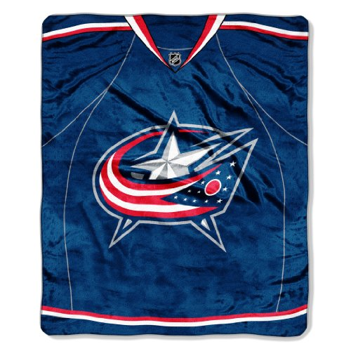 The Northwest Company Officially Licensed NHL Columbus Blue Jackets Jersey Plush Raschel Throw Blanket, 50
