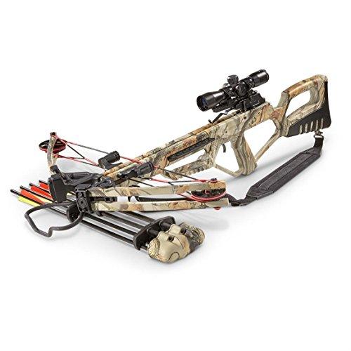 MTech Falcon DX Extreme Composite Crossbow | Camouflage | 370 FPS | 185lb Pull | 4x32mm Scope | PLUS a Sportsman's Guide Exclusive Bonus Kit (a $40.00 value) | 100% Satisfaction Guarantee
