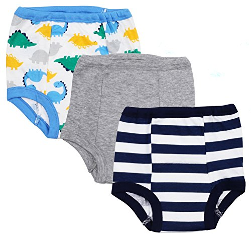 Pack Pants Training 3 (Gerber Baby Toddler Boy Cotton Training Pants, 3T, 3-Pack)
