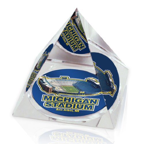- NCAA Michigan Wolverines Michigan University Stadium in Large 3 1/4-Inch Crystal Pyramid