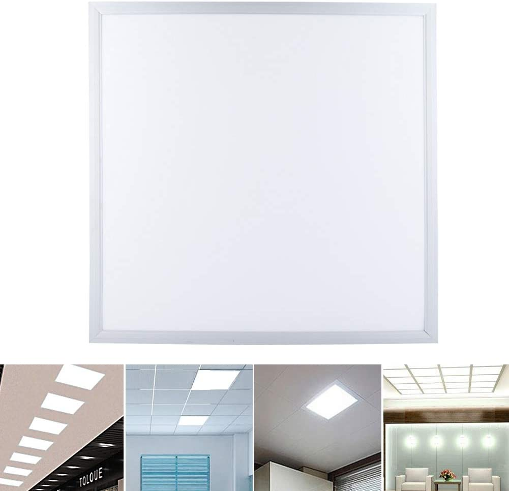 1pc GOTOTP Panel LED Cuadrado 48W Ahorro de Energia Plaf/ón de Panel Baja Temperatura 60 x 60cm AC220-240V