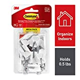 Command Wire Hooks, White, Indoor Use