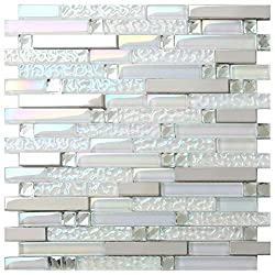 Glass Metal Tile Mirror With Stainless Steel