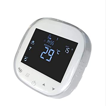 Onepeak Termostato WiFi programable Termostato de agua/caldera de gas Controlador de temperatura ambiente Funciona con Alexa Página de inicio de Google: ...