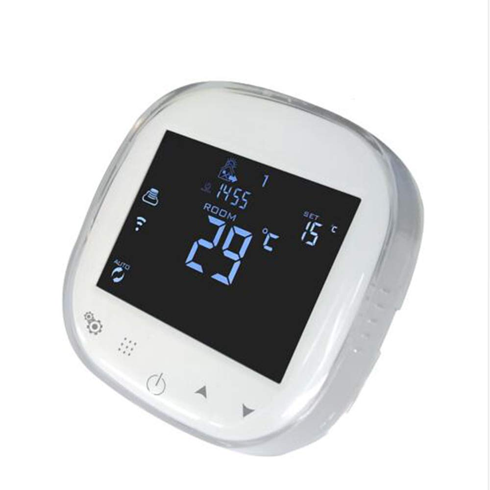 Onepeak WiFi Touchscreen Thermostat Programmable Temperature Controller Water Floor Heating Thermostat Works with Alexa Google Home 3A