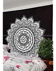 ستارة للتعليق على الحائط بتصميم متدرج اللون متعددة الاغراض بتصميم فني هندي لديكور المنزل، مناسبة لغرفة النوم او غرفة المعيشة او الباب او البلكونة