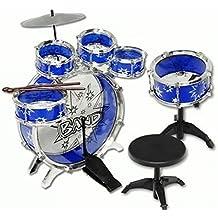 11pc Kids Boy Girl Drum Set Musical Instrument Toy Playset BLUE