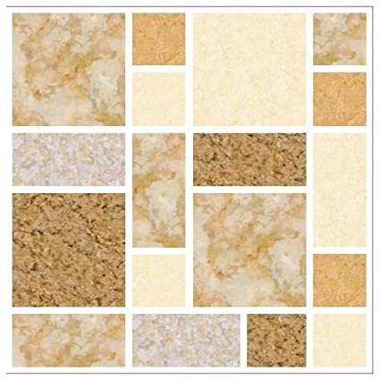 Lps Pack Of 10 Beige Brown Coffee Grey Multi Stone Marble Effect Mosaic Tile Transfers Stickers Kitchen Bathroom Stick On Tile Peel And Stick On Wall