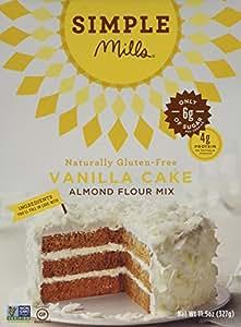 Simple Mills Vanilla Cake Mix, 11.5 oz (Pack of 3)