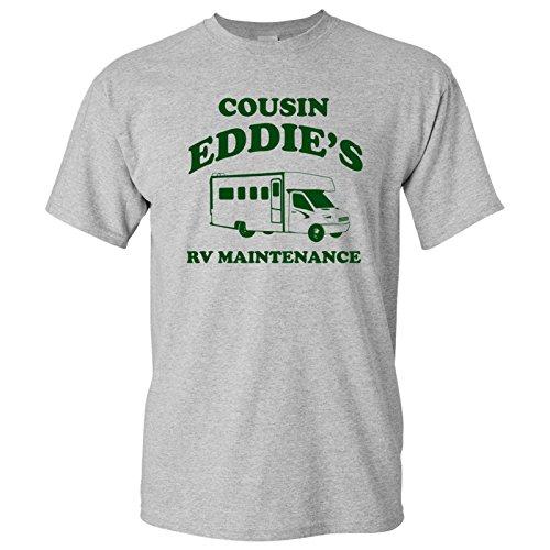 Cousin Eddie's RV Maintenance - Funny Holiday Parody Movie T Shirt - X-Large - Sport Grey]()