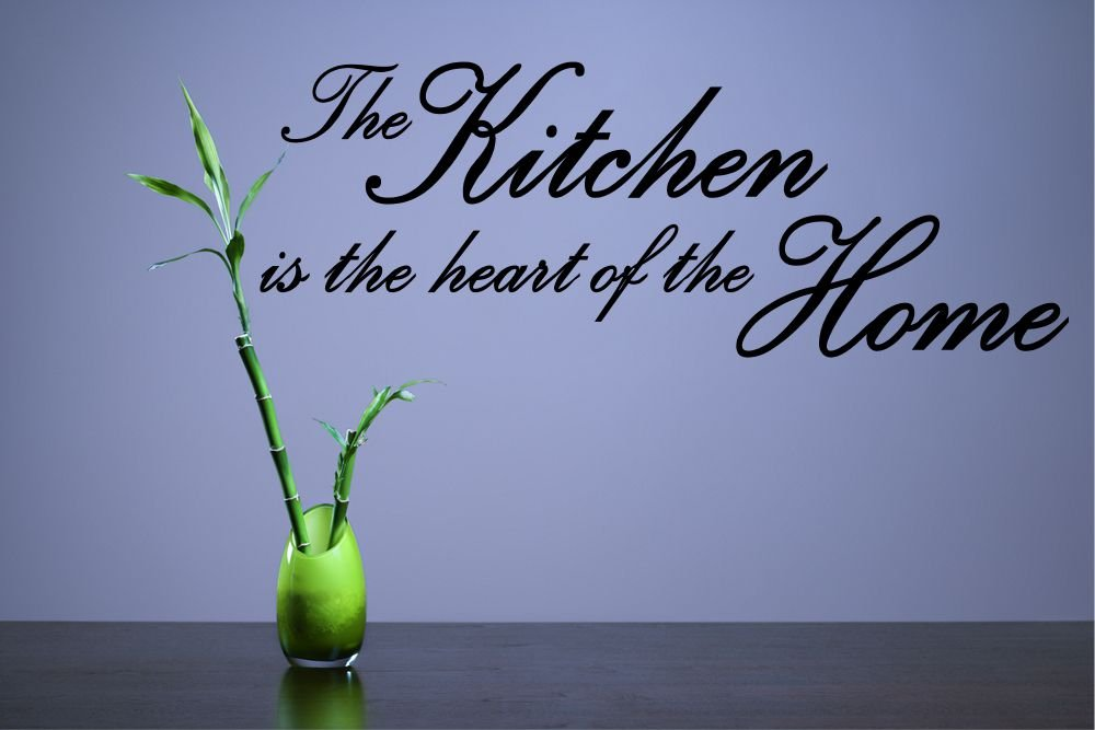 gloss W1 The Kitchen Is The Heart Of The Home Vinyl Wall Art Sticker Decal