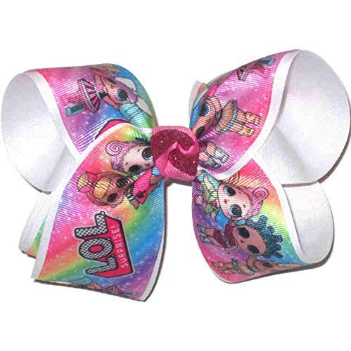 OV-2721L Large LOL Characters Double Layer Overlay Bow