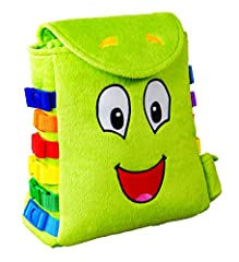 I'm Buddy Backpack - The Buckle Toy. I'm loved by every girl and boy. My super soft plush backpack uniquely designed with colorful primary bold colors to appeal to any child's early fascination with buckles. Toddlers will not only learn to 'S...