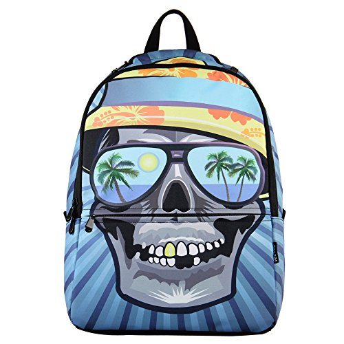 f4e73b9a2b1e Hynes Eagle Printed Kids School Backpack Cool Children Bookbag Summer Skull  (B00MGMR9JU)