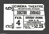 """Omar Sharif """"DOCTOR ZHIVAGO"""" Rod Steiger 1967 Sioux City, Iowa Movie Ticket Stub"""
