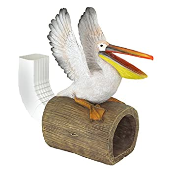 Design Toscano QM2868800 Splash The Pelican Gutter Guardian Downspout Statue, Full Color