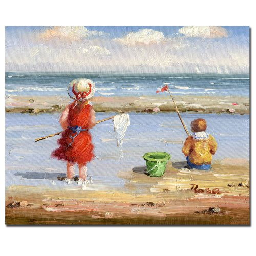 At the Beach II by Master's Art, 26x32-Inch Canvas Wall Art by Trademark Fine Art