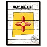 mexico pictures - New Mexico State Vintage Flag Canvas Print Black Picture Frame Gift Ideas Home Decor Wall Art Decoration Gift Ideas