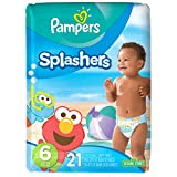 Pampers Splashers Disposable Swim Diapers, Size 6, 21 Count, JUMBO