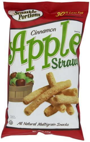 Sensible Portions Straws, Apple Cinnamon, 5 Ounce - Apple Almond Crisp