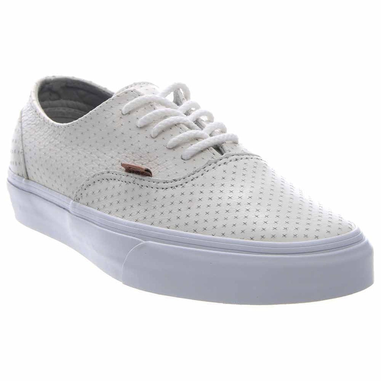 Vans Era Decon + - Zapatillas de Skateboarding de Piel Para Hombre Blanco Leather Emboss Blanc de Blanc, Color Negro, Talla 11.5