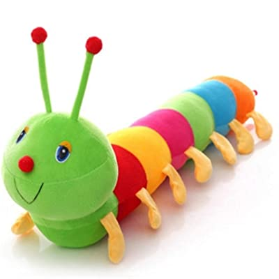 Airlove Cute Colorful Caterpillar Plush Toy Long Stuffed Animal Caterpillar Pillow for Kids Adults Toys: Kitchen & Dining