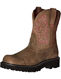 Women's Fatbaby Heritage Western Cowboy Boot, Tooled Brown, 11 B US