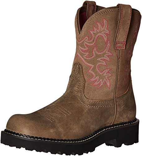 Ariat Women's Fatbaby Collection Western Cowboy Boot, Brown Bomber, 6 B US (Pink Riding Boots For Women)