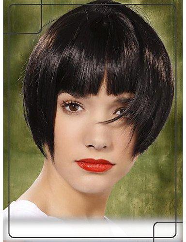 xzl Pelucas de la manera bob elegante virginal remy del pelo 1 superior sin tapa monofilamento