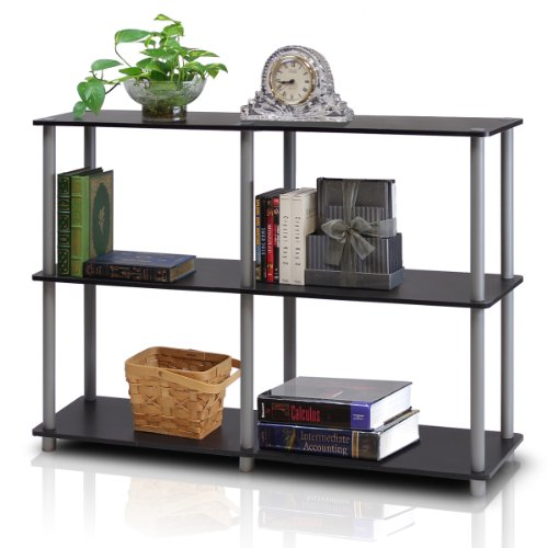 Furinno 99130BK/GY Turn-N-Tube 3-Tier Double Size Storage Display Rack, (Tube Unit)