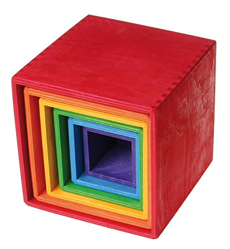 Grimm's Large Set of Colored Boxes by Grimm's