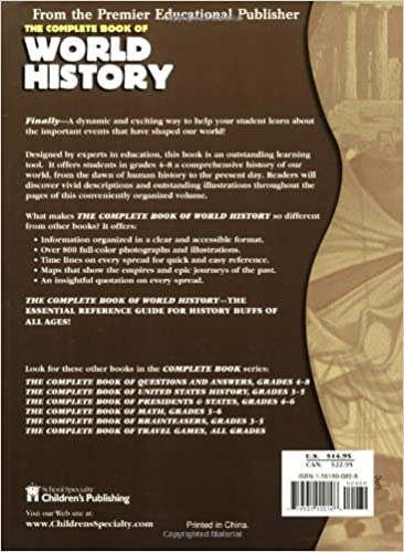 The Complete Book of World History (Complete Books): School ...