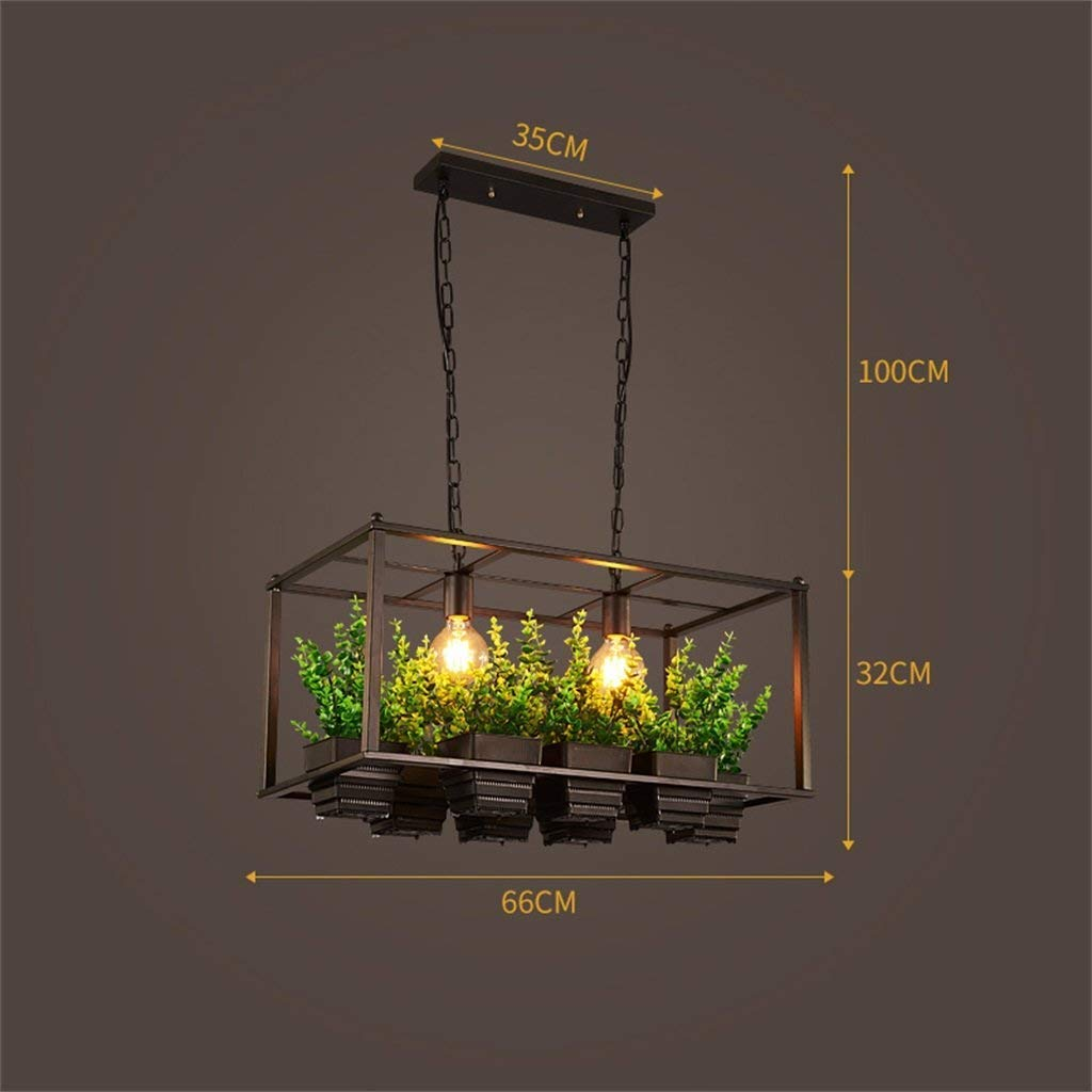 WHKHY Shades Pastoral Style Neutral Iron Retro Durable Wind Plant Professional Personality Chandelier