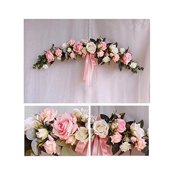 Really Zone Classic Artificial Simulation Flowers Hydrangea for Wedding Home Room Garden Lintel Decoration Pink & White