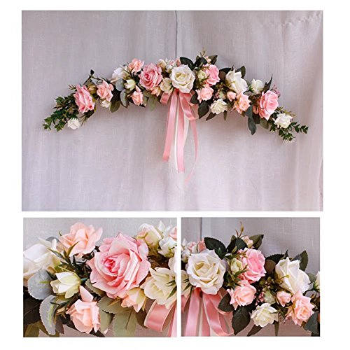 (Really Zone Classic Artificial Simulation Flowers Hydrangea for Wedding Home Room Garden Lintel Decoration Pink & White )