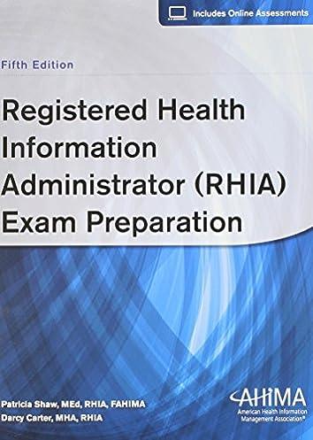 registered health information administrator rhia exam preparation rh amazon com Test-Taking Bulletin Board Ideas RHIT Certification