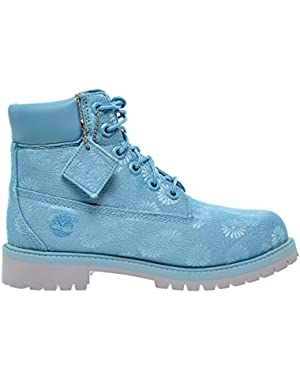 6 Inch Classic Big Kids Boots Blue Floral tb0a174m