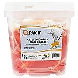 PAK-IT 578920003200 Citrus All-Purpose Floor Cleaner, Citrus Scent, 50 PAK-ITs/Tub