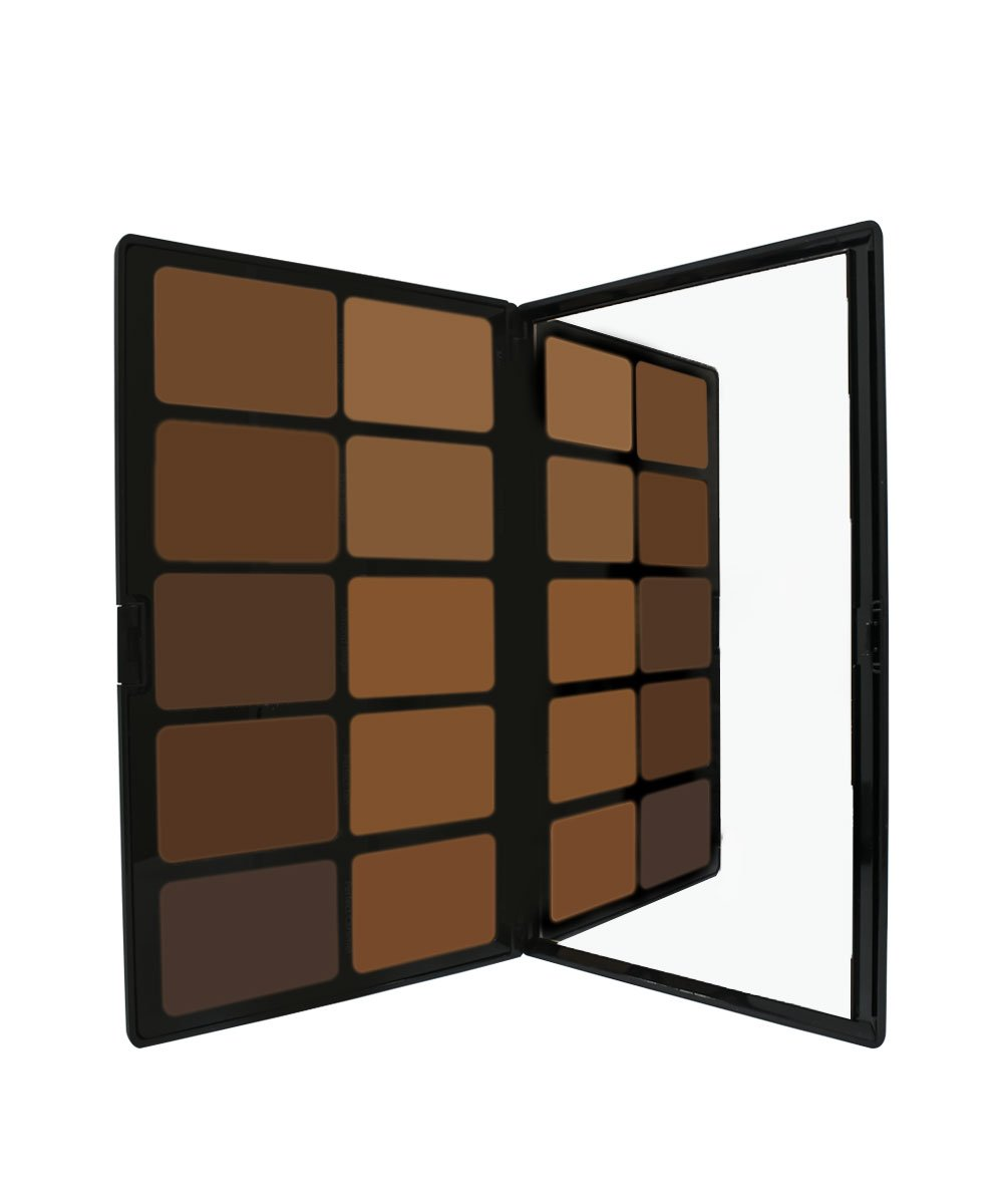 Cream Foundation Palette by Sacha Cosmetics, Best Pro Natural Matte Makeup Kit for Flawless Finish, Medium to Full Coverage, Normal to Dry Skin, Medium to Deep