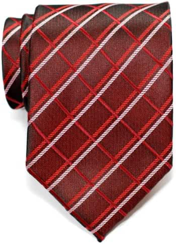 Retreez Elegant Plaid Check Style Woven Men's Tie Necktie - Various Colors